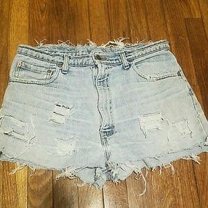 Vintage levi's  distressed shorts